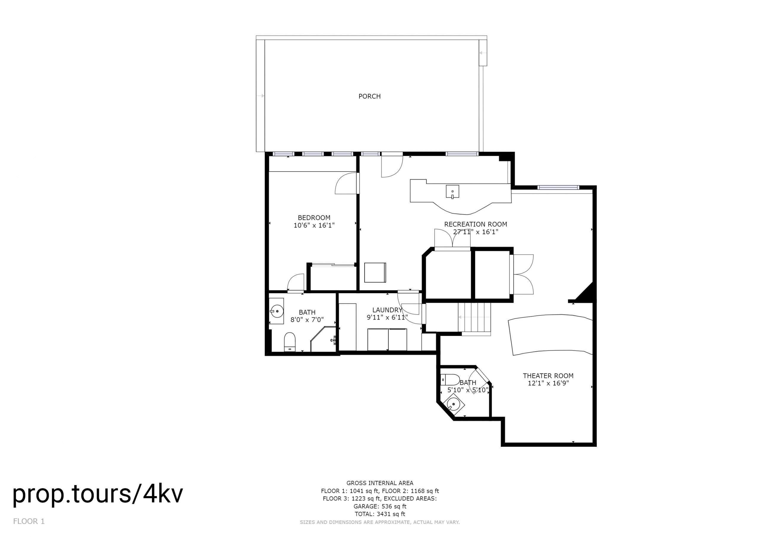 Floor Plan of Basement With Measurements