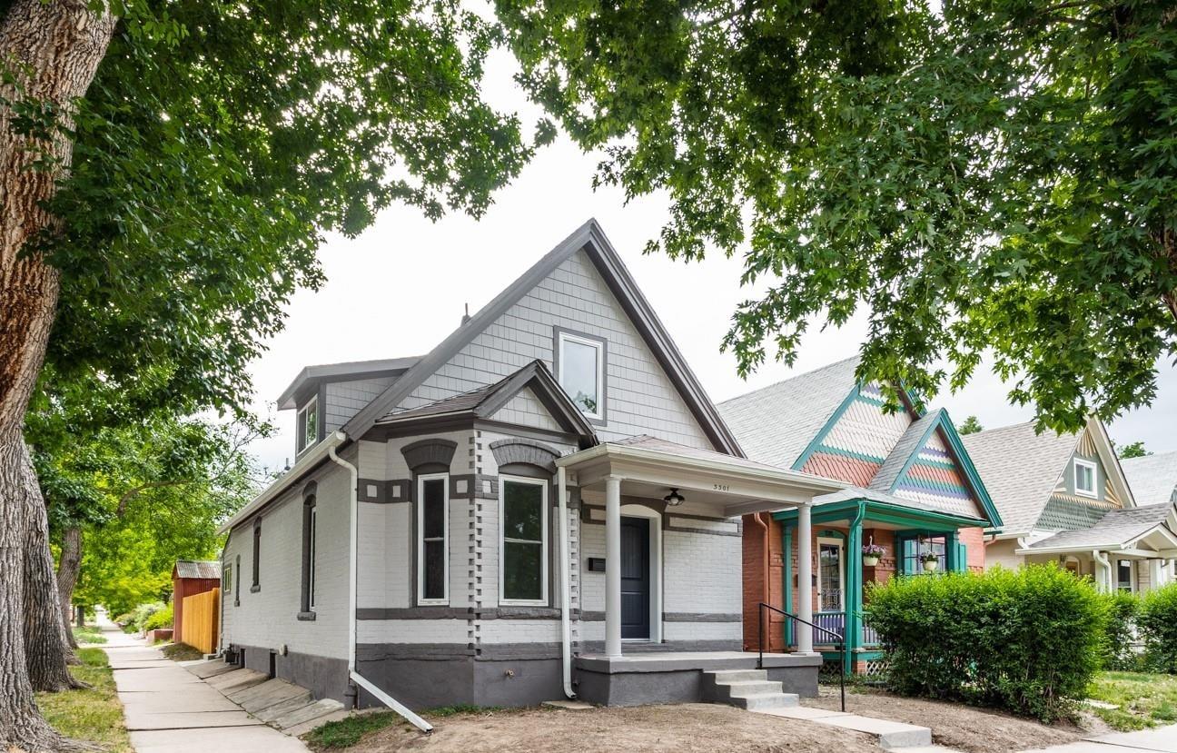 Starter Home For Sale, Highlands Neighborhood, Victorian with Grey Brick