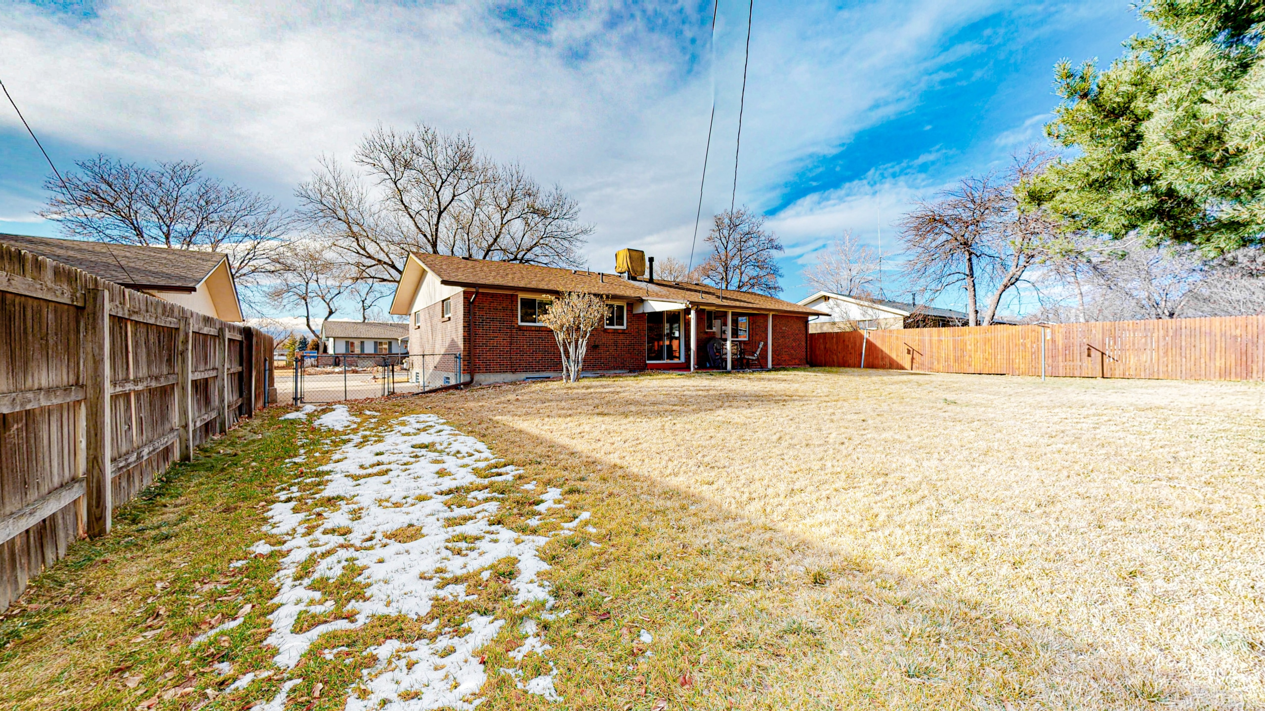 Arvada Home For Sale, Big Back Yard, Covered Patio, Red Brick Home