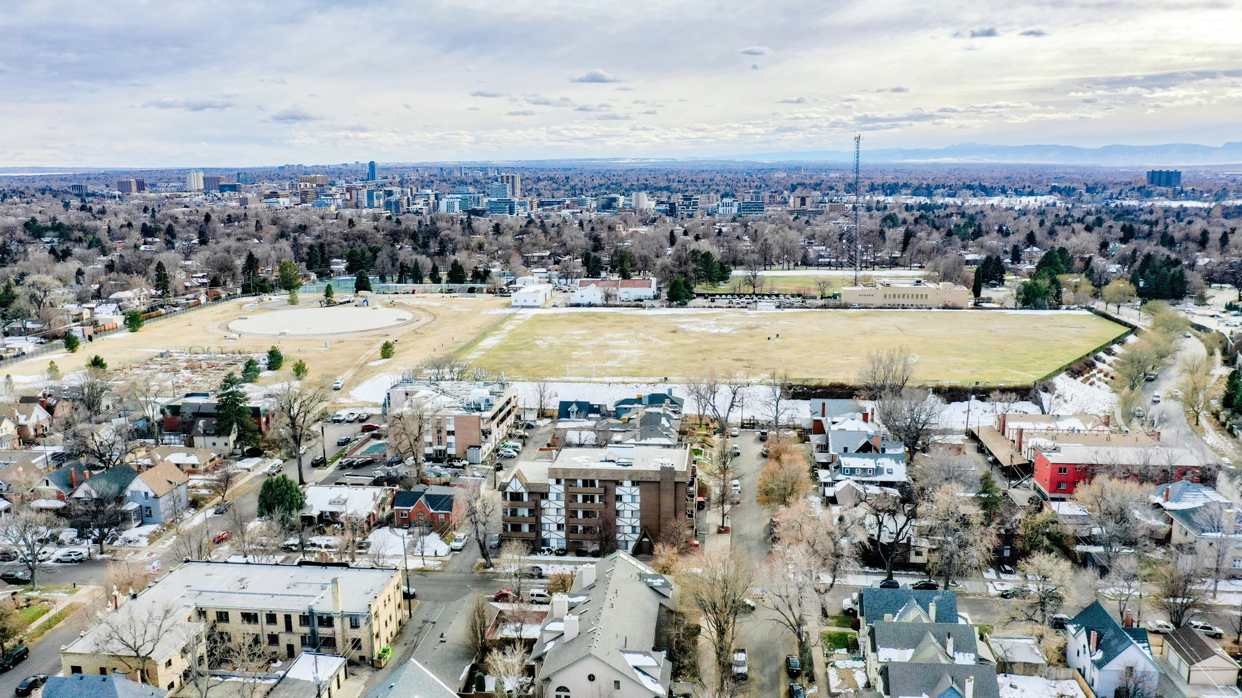 Congress Park Aerial From Drone