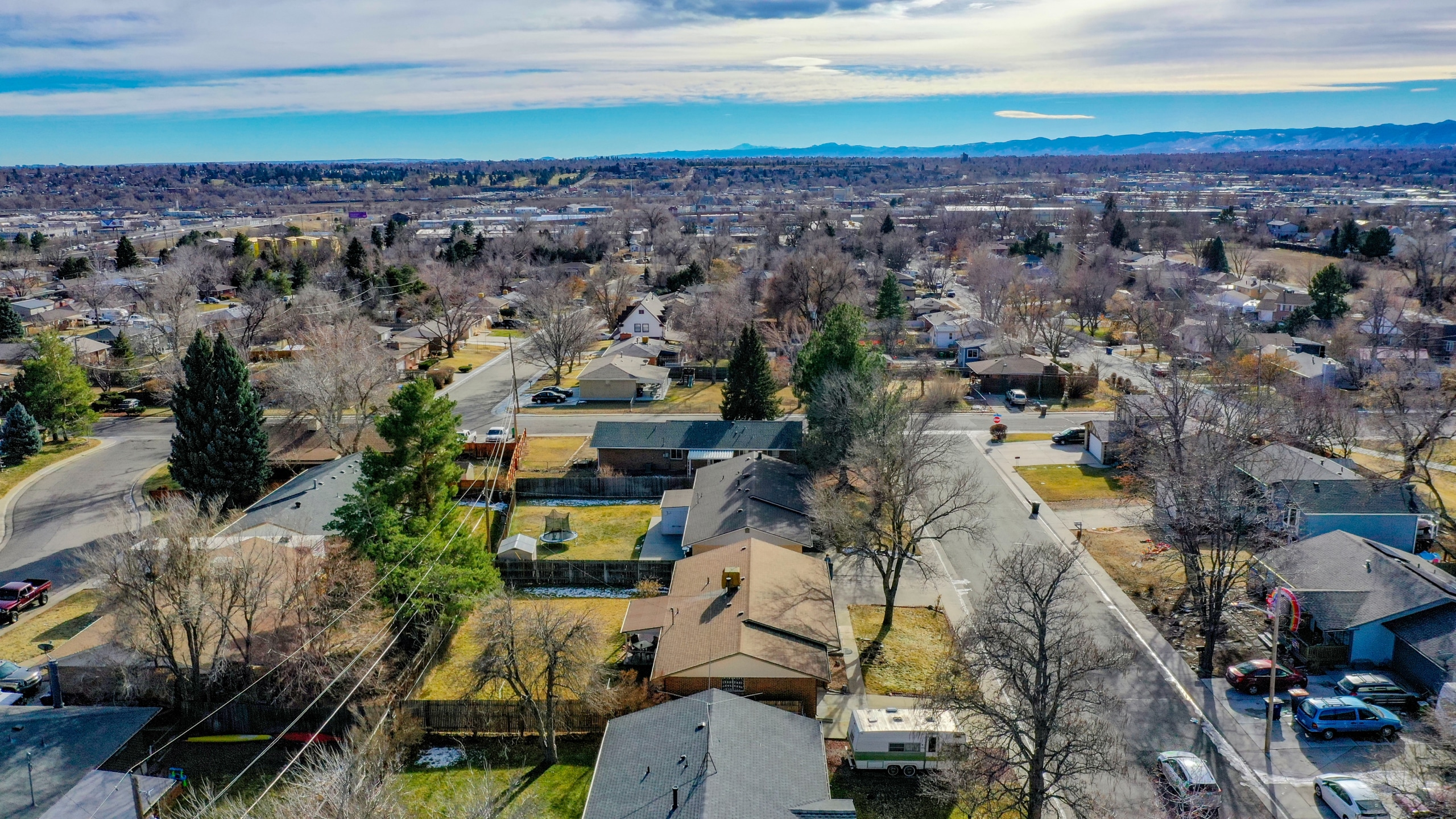 Mountain View, Drone Photo, Denver, Arvada, Skyline