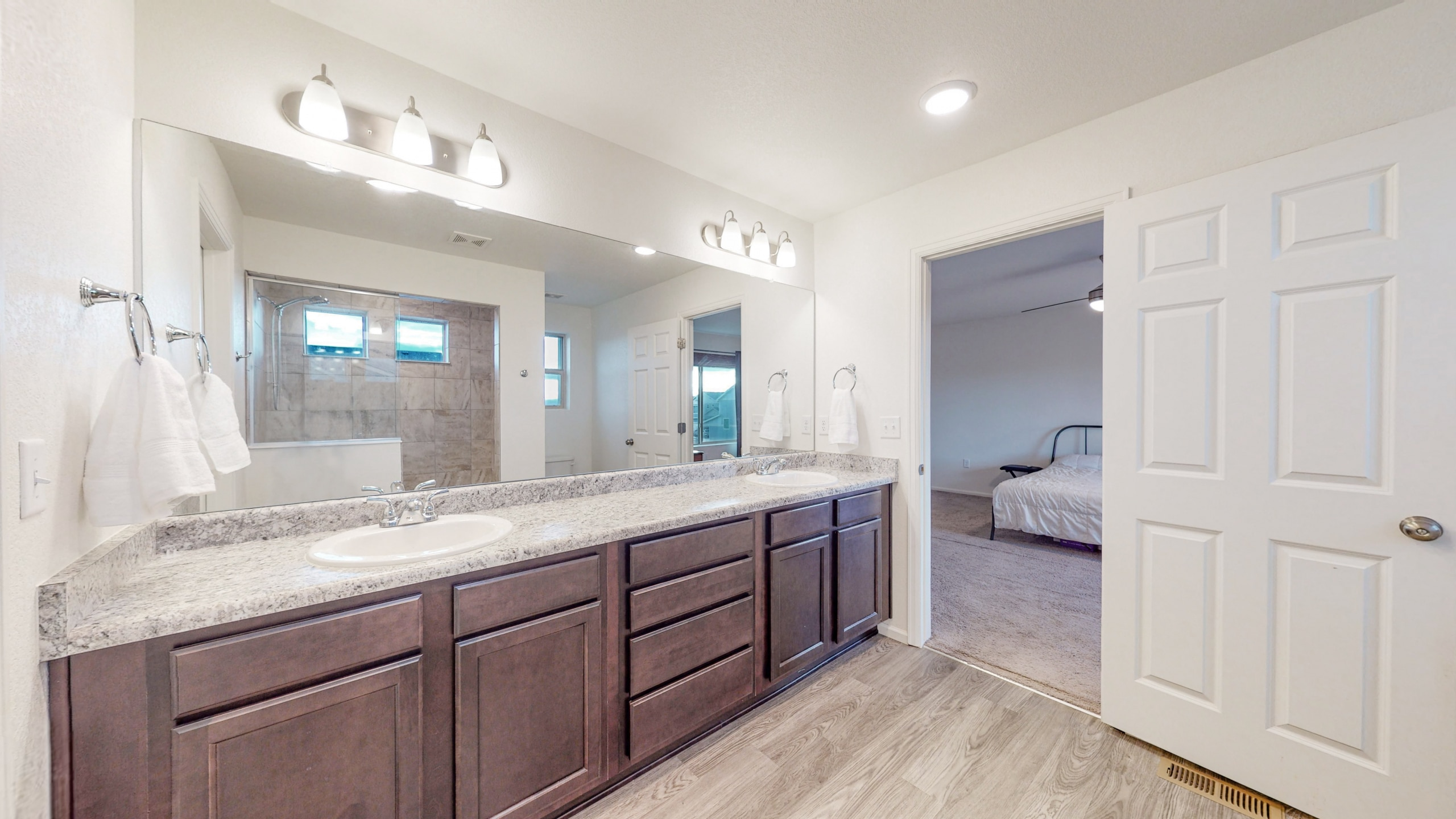 Commerce City, CO Home for sale, large walk-in closet with walk-in shower