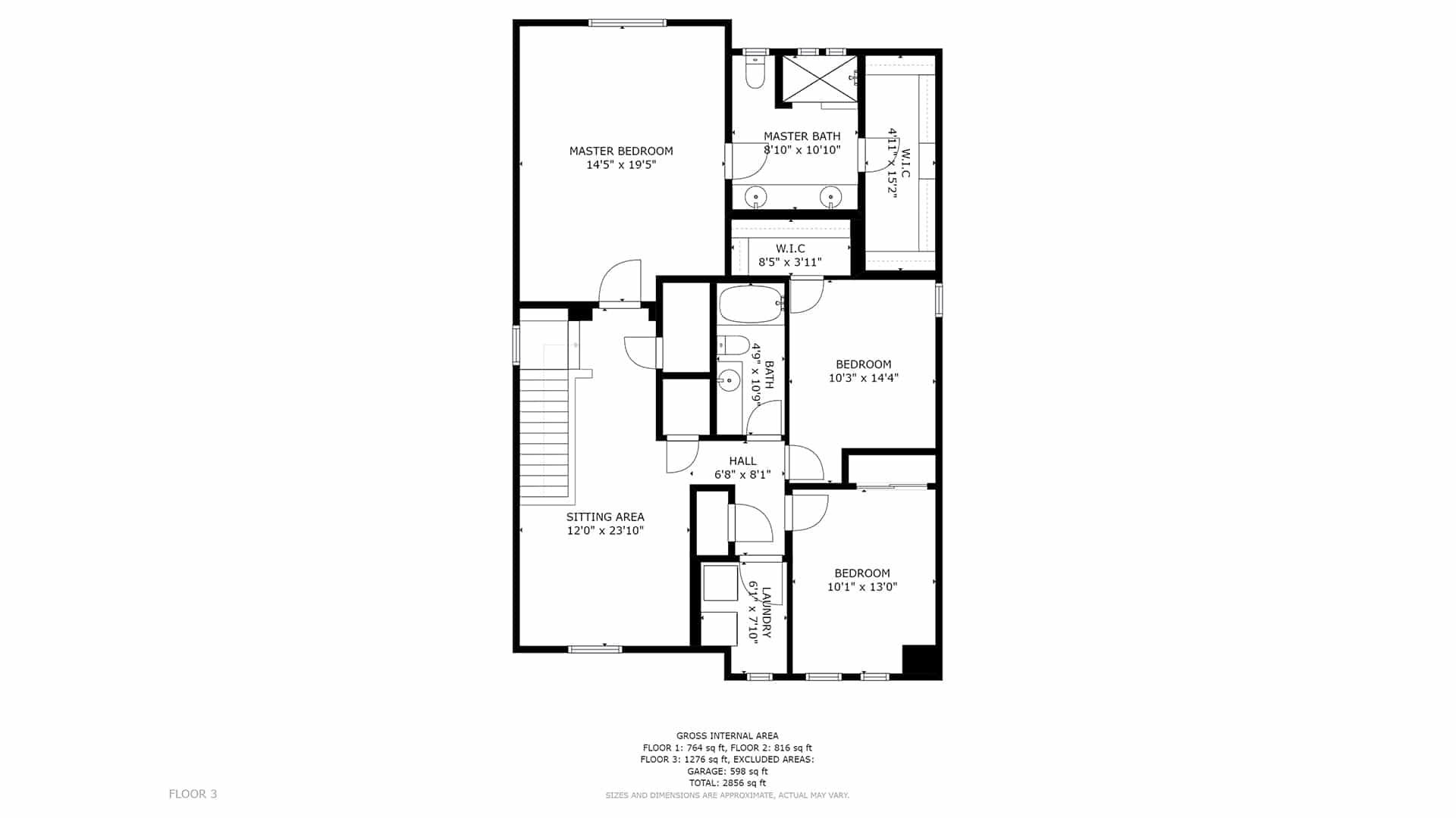 Commerce City Home For Sale Upper Floor Plan