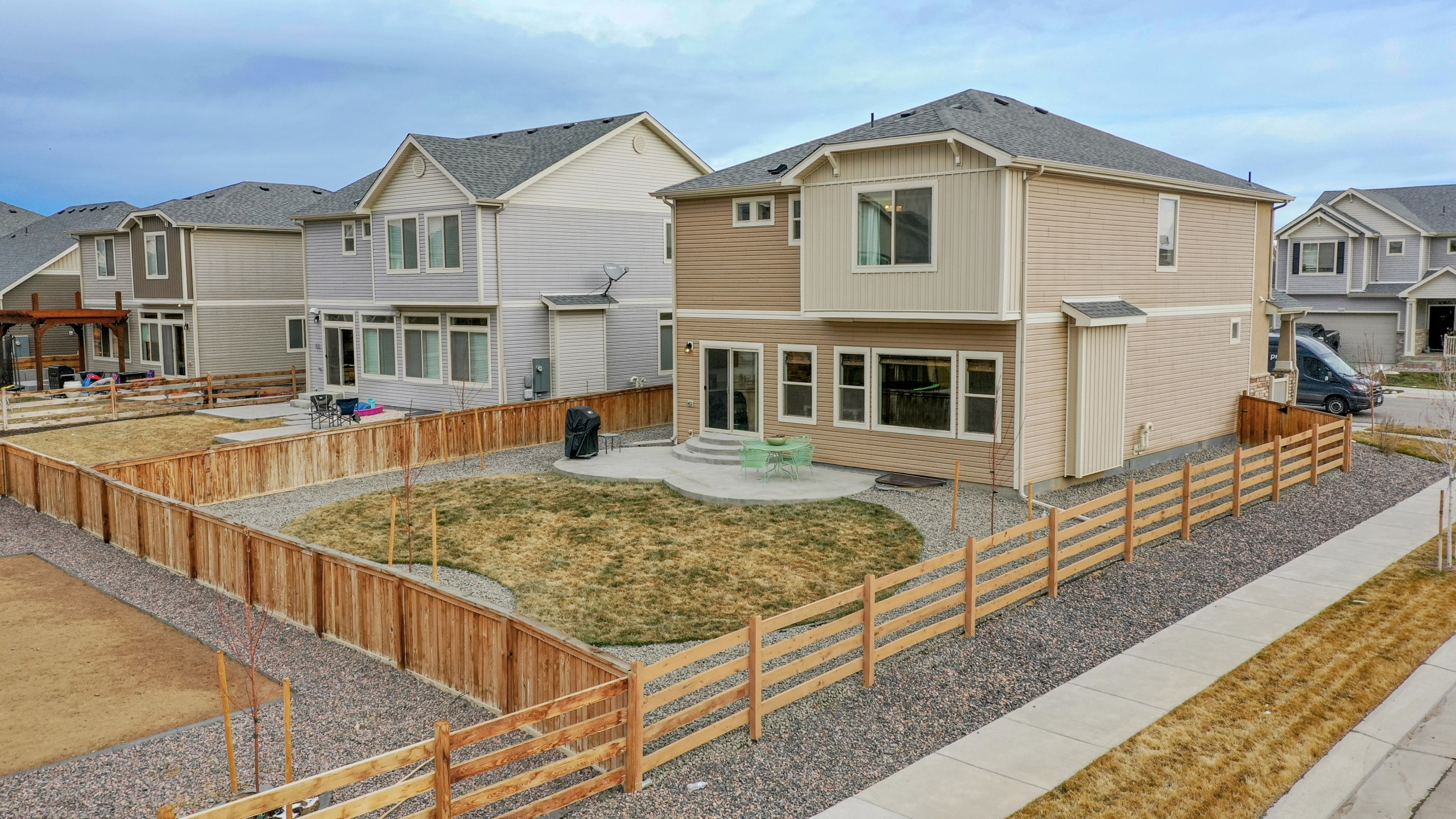 Commerce City Home for sale large backyard with green grass