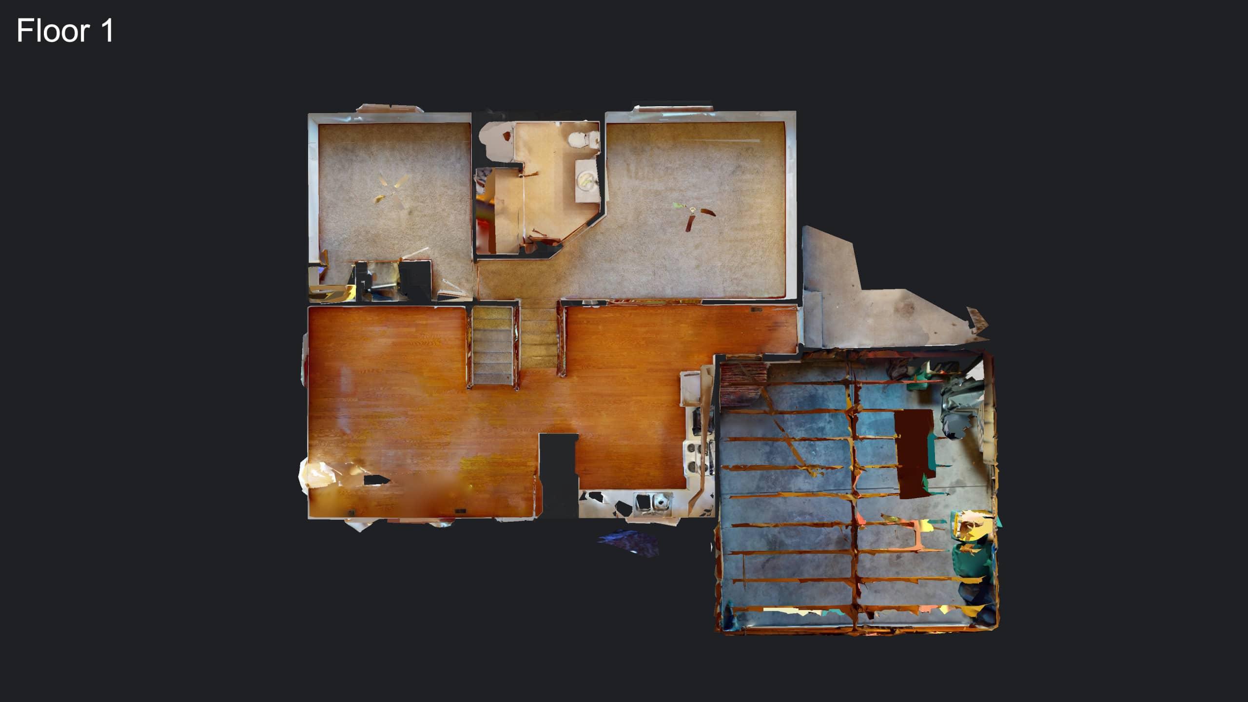 3D Main Floor Plan Drawing