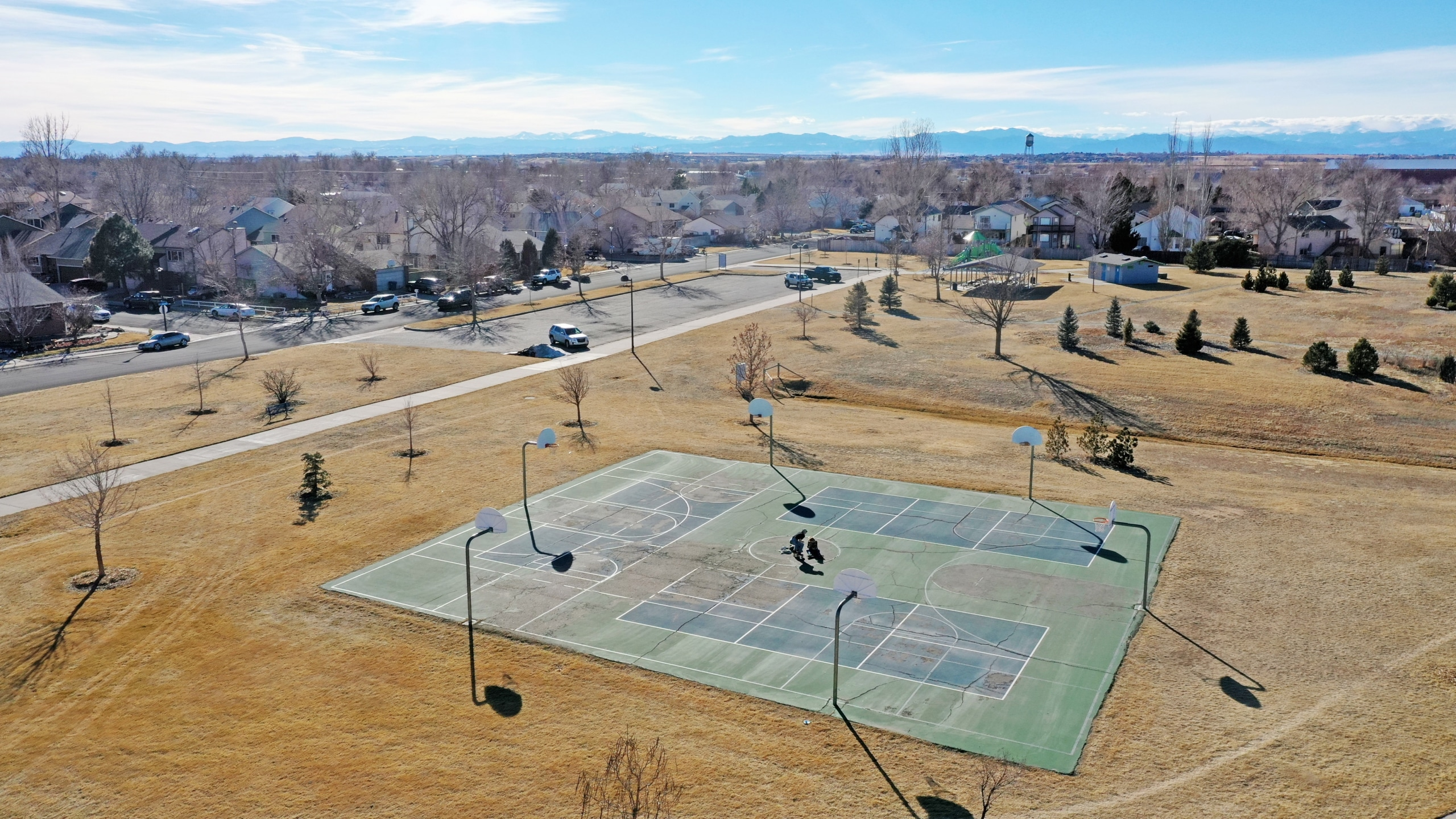 Brighton Park just steps away from house with basketball courts and recreation center