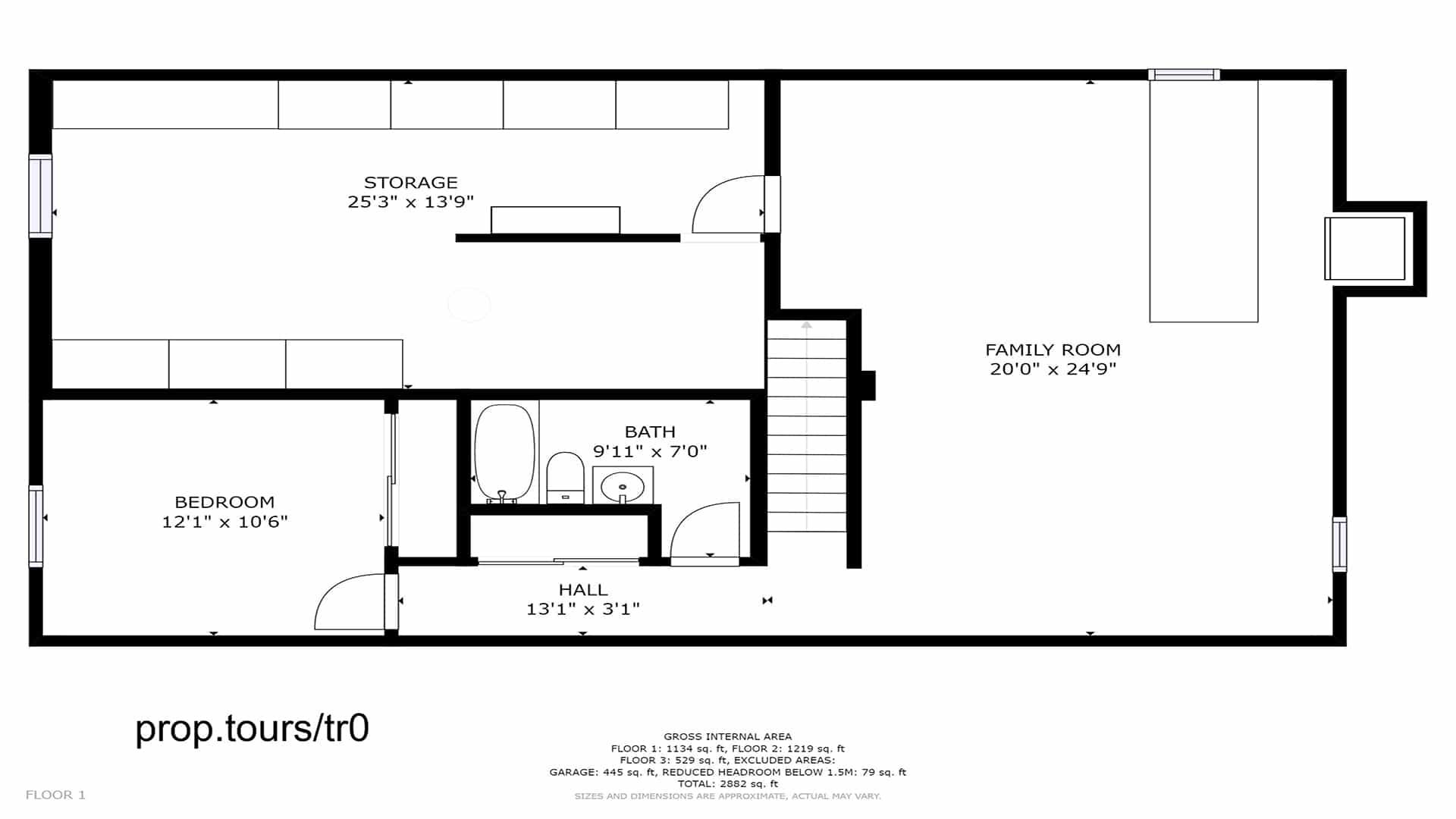 Brighton home for sale, basement floor plan