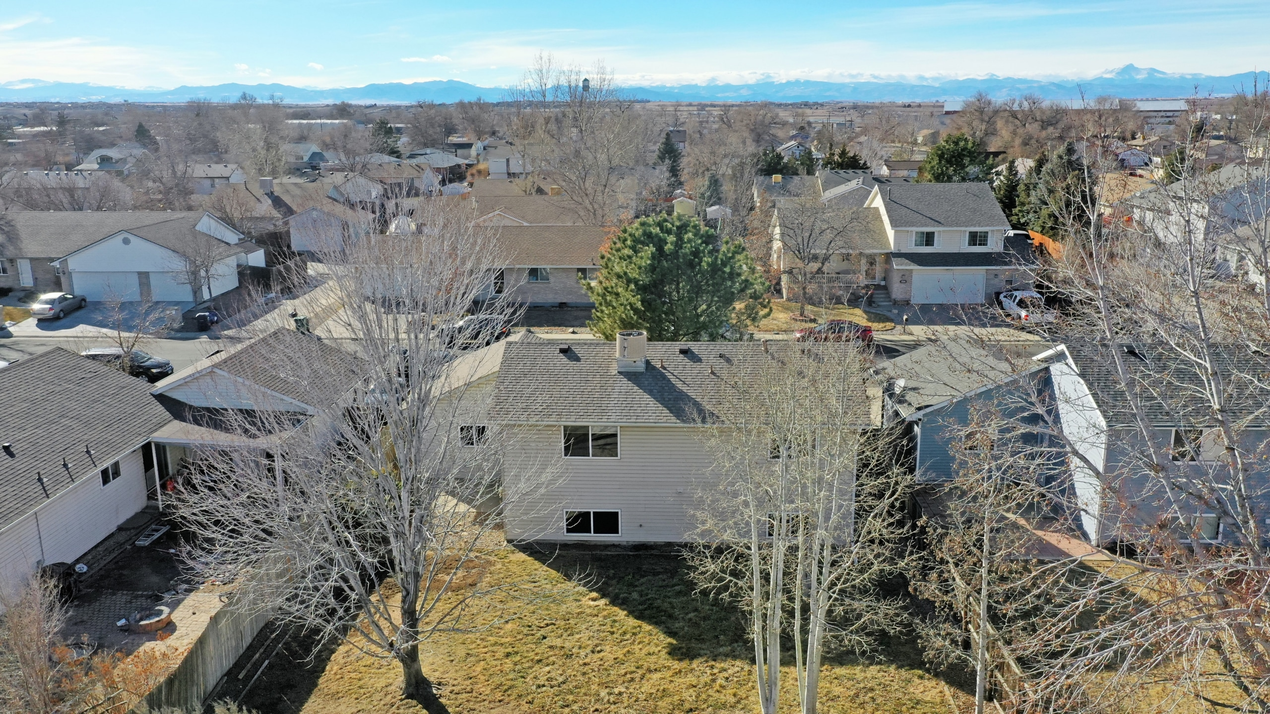 Brighton house for sale aerial image with gorgeouse mountain views
