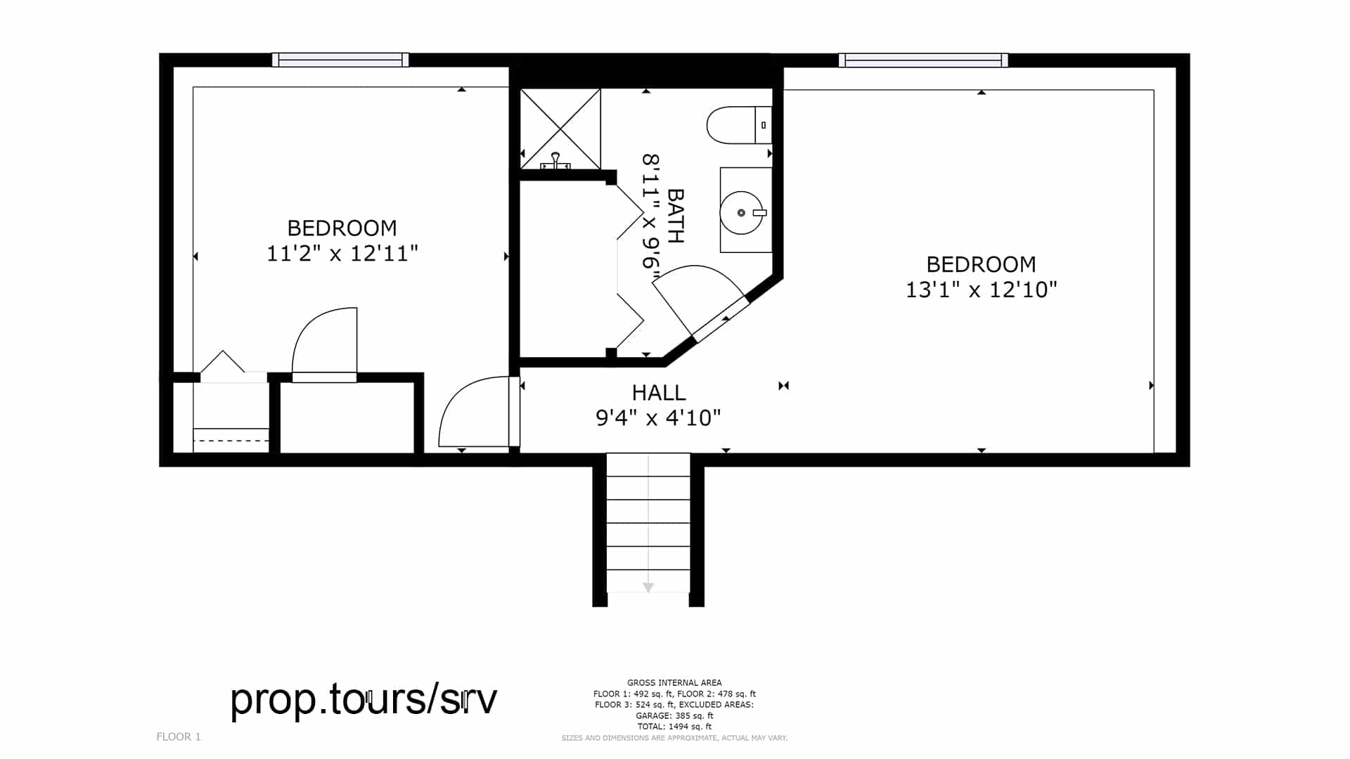 Lower floor plan drawing Brighton house for sale