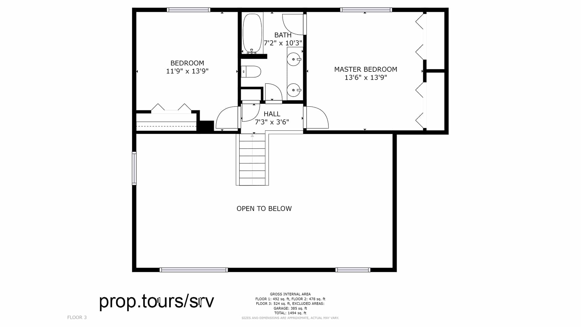 Upper Floor Plan Drawing Brighton House for sale