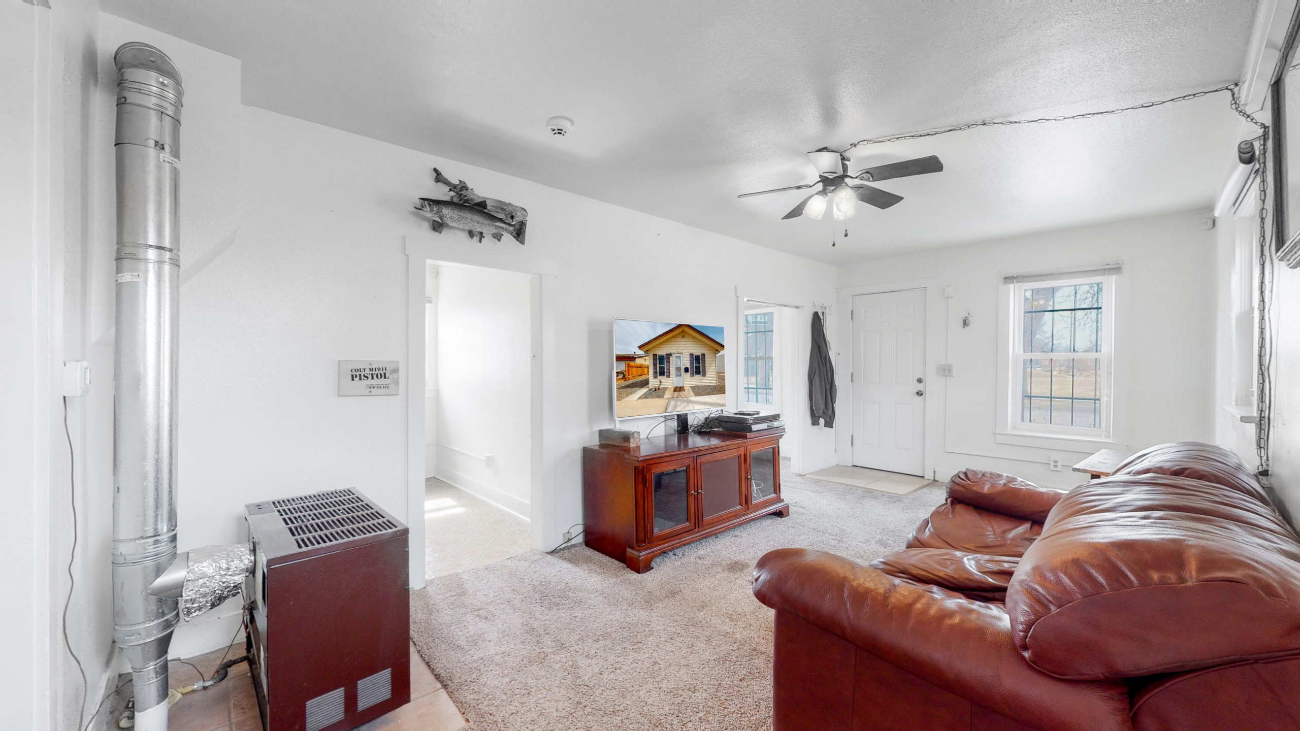 Downtown Brighton Home With Big Living Room and White walls