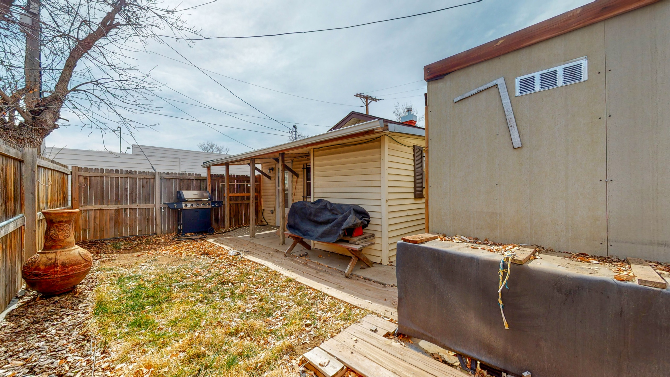 Downtown Brighton Home big backyard with storage shed