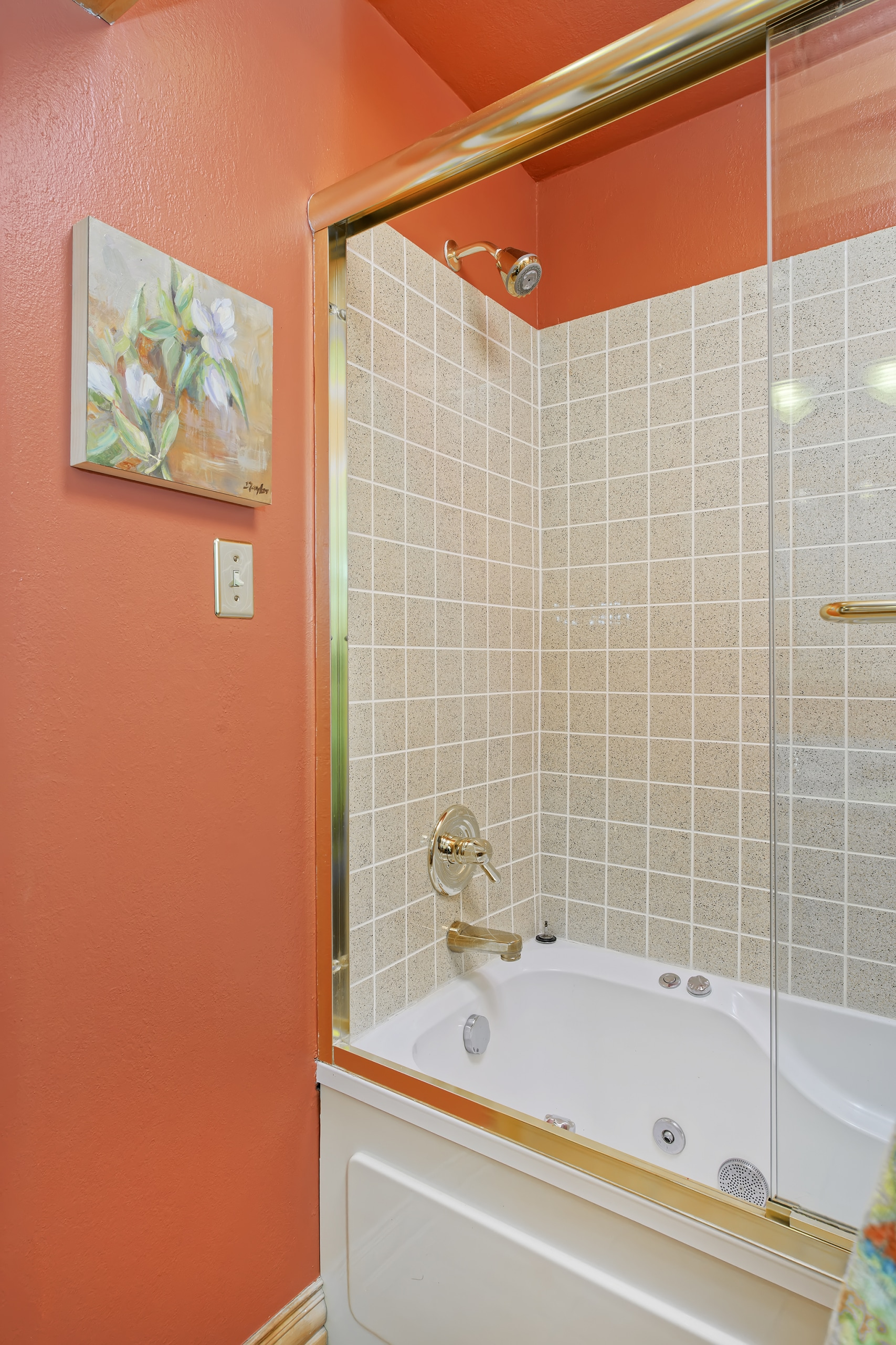 Washington Park Home Bathroom with Jetted tub, tile surround