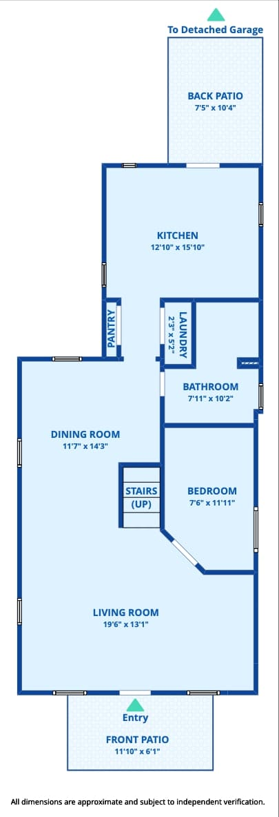 Washington Park Victorian Home, Main Floor Plan, Open