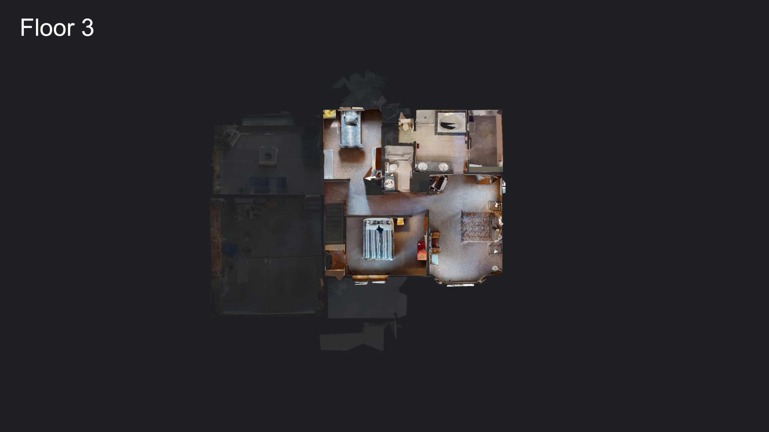 3D Floor Plan of Upper Floor