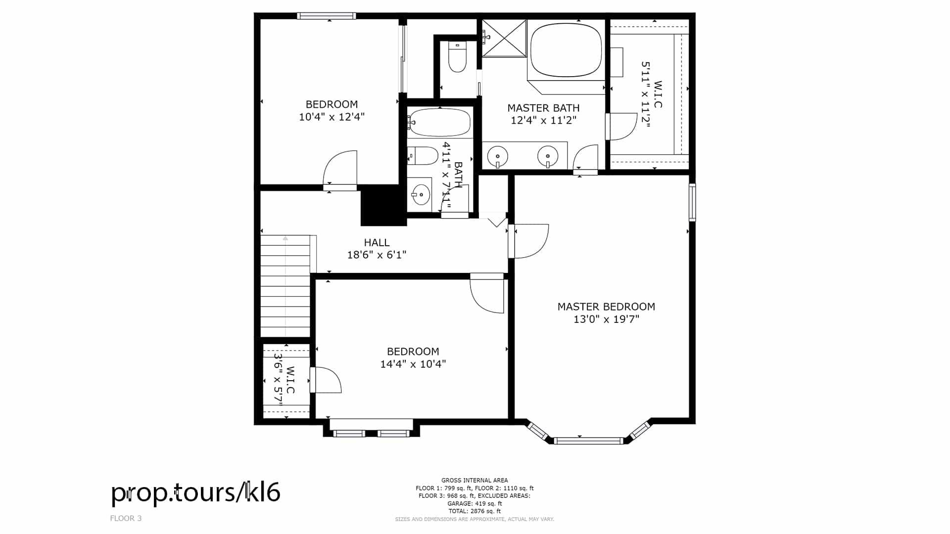 Floor Plan of Upper Floor