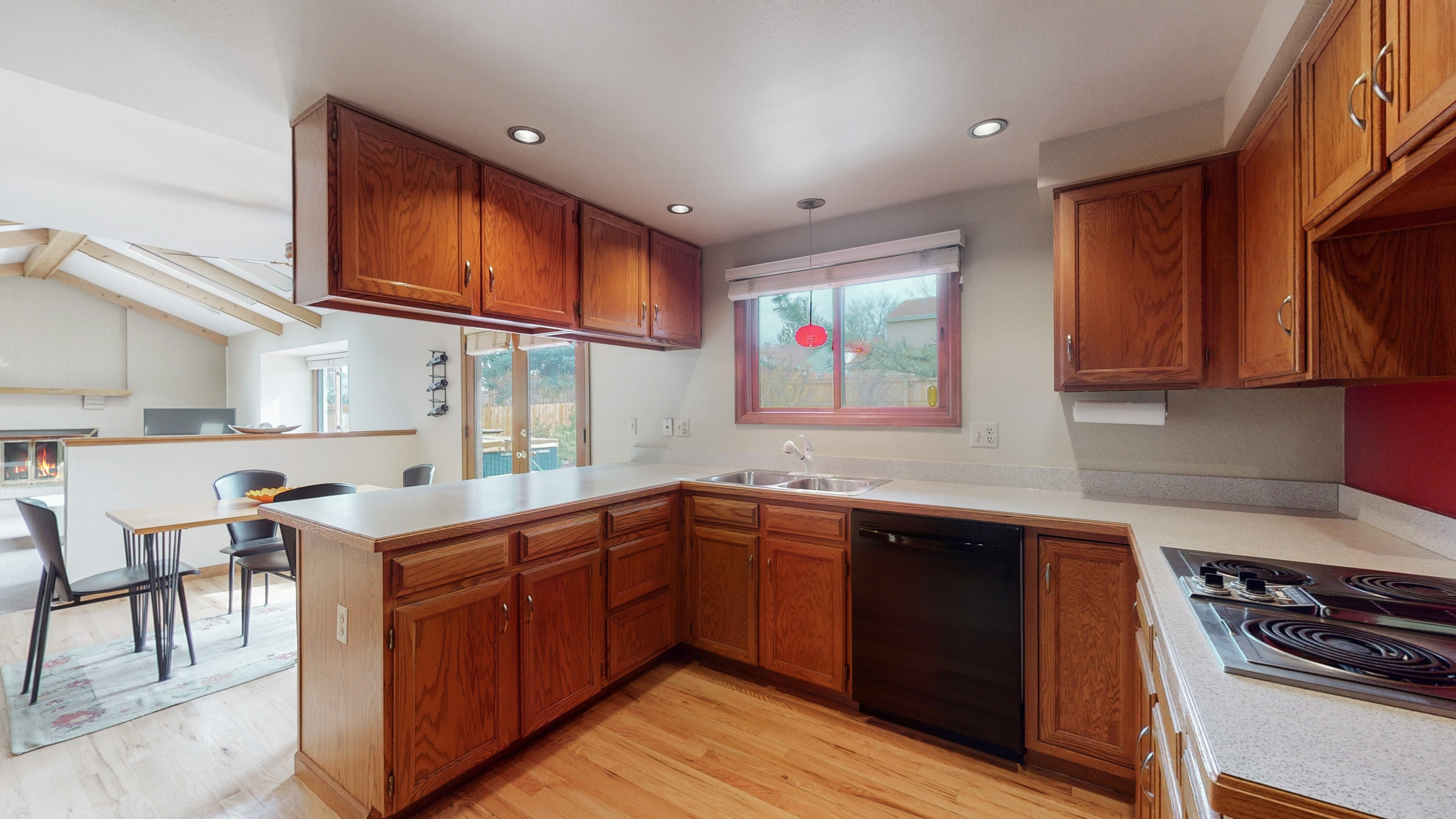 Kitchen with lots of natural light