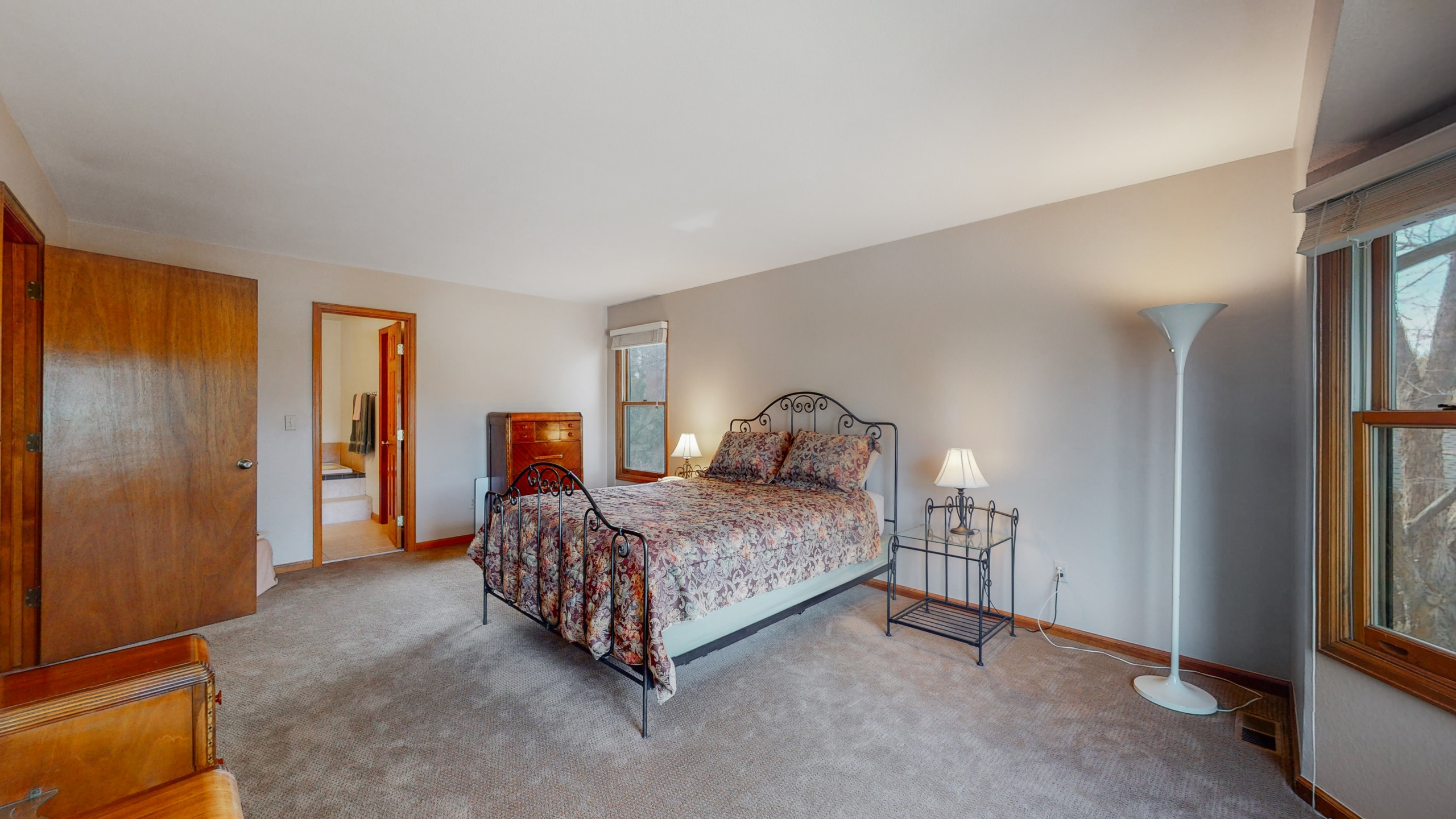 Large master bedroom can fit any size bed