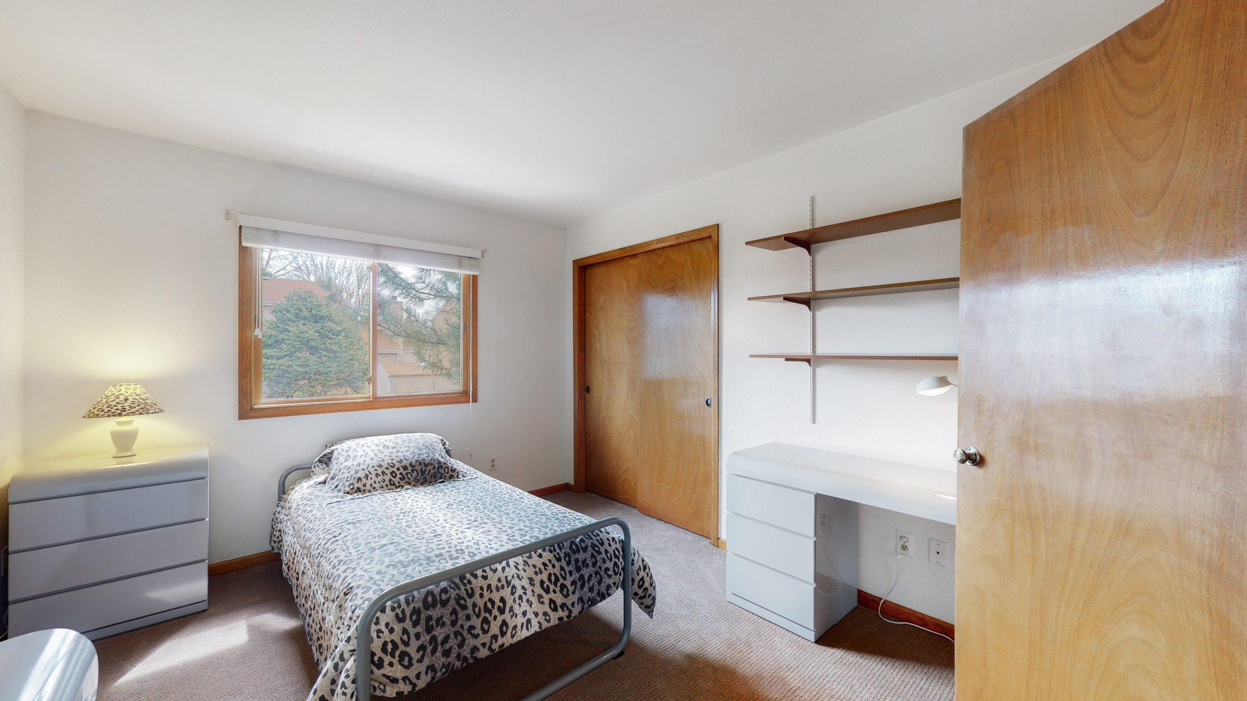 Upstairs bedroom with ample closet space