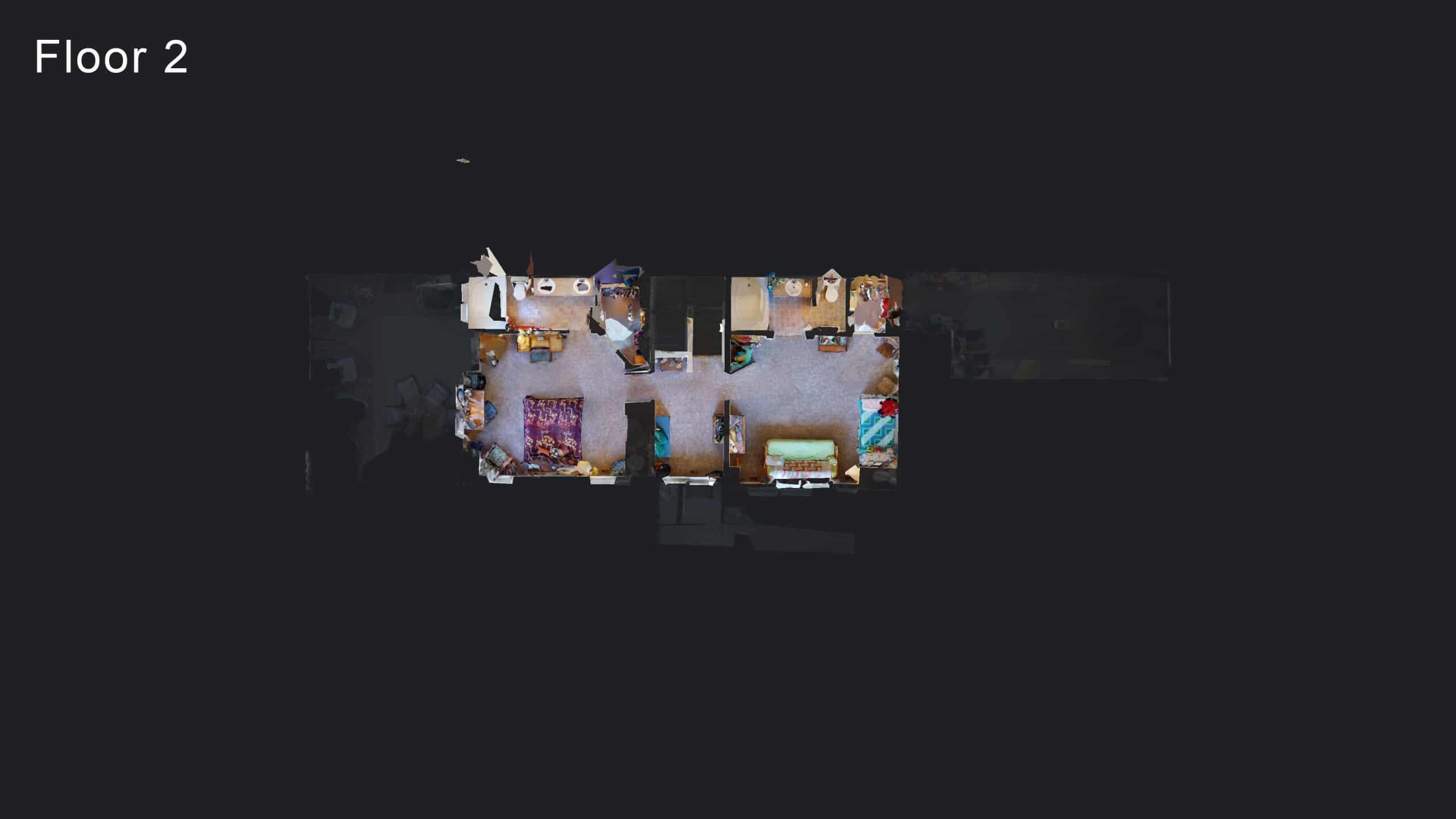 3D Floor Plan of Peninsula Townhome Condos Upper Floor