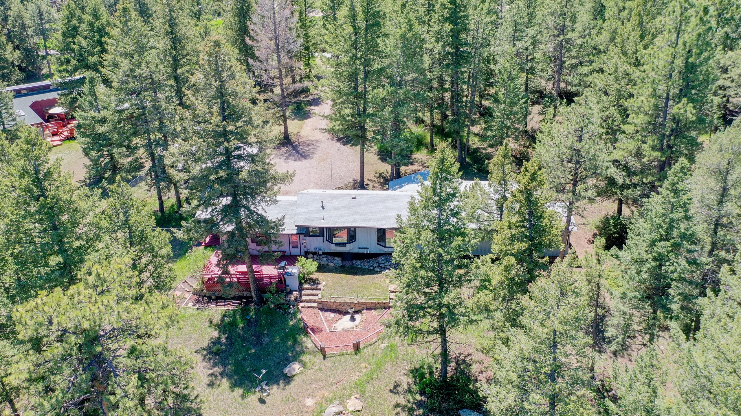 Aerial View of Home in Evergreen