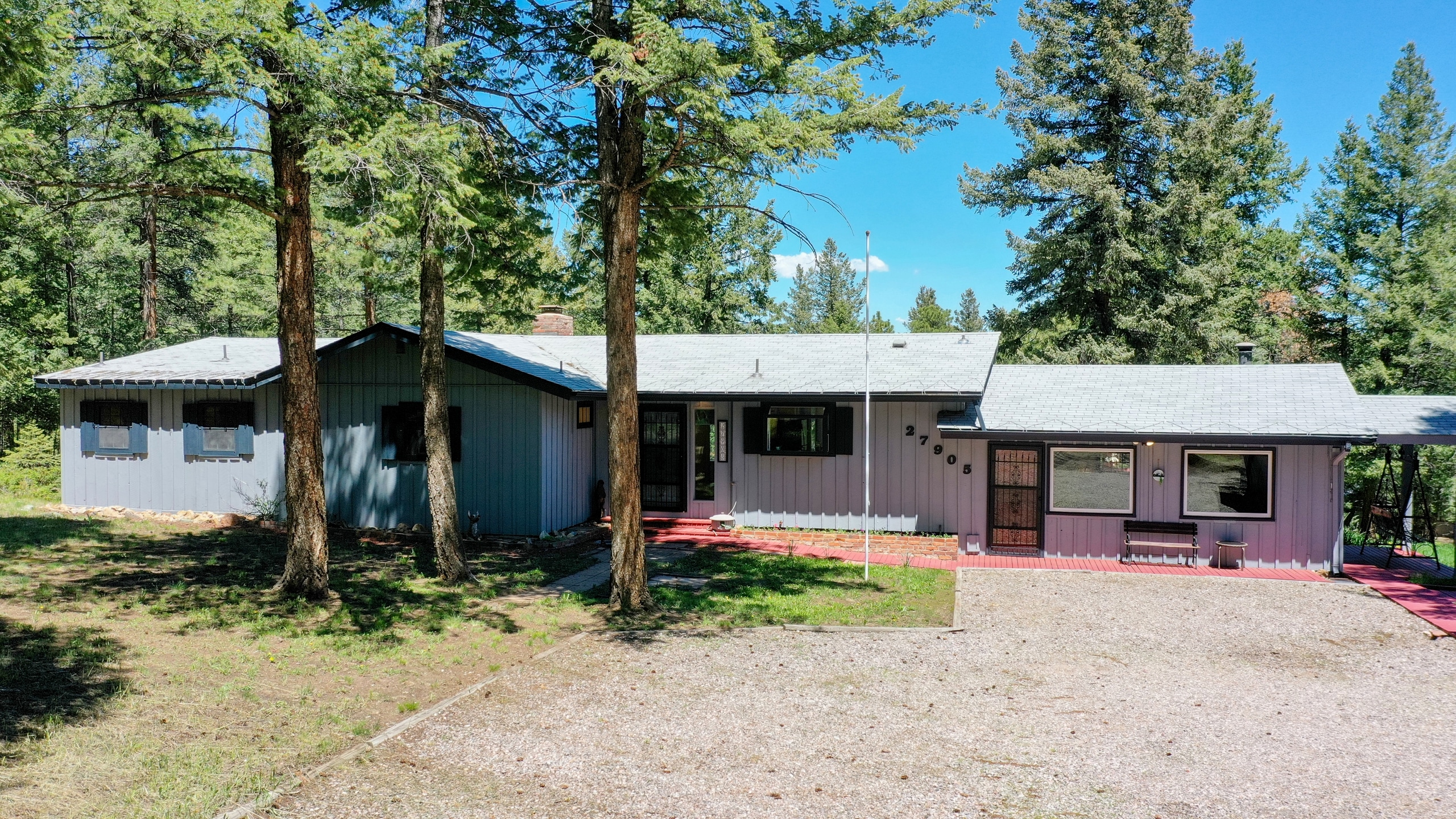 Evergreen Home For Sale Ranch One Level on two quiet acres