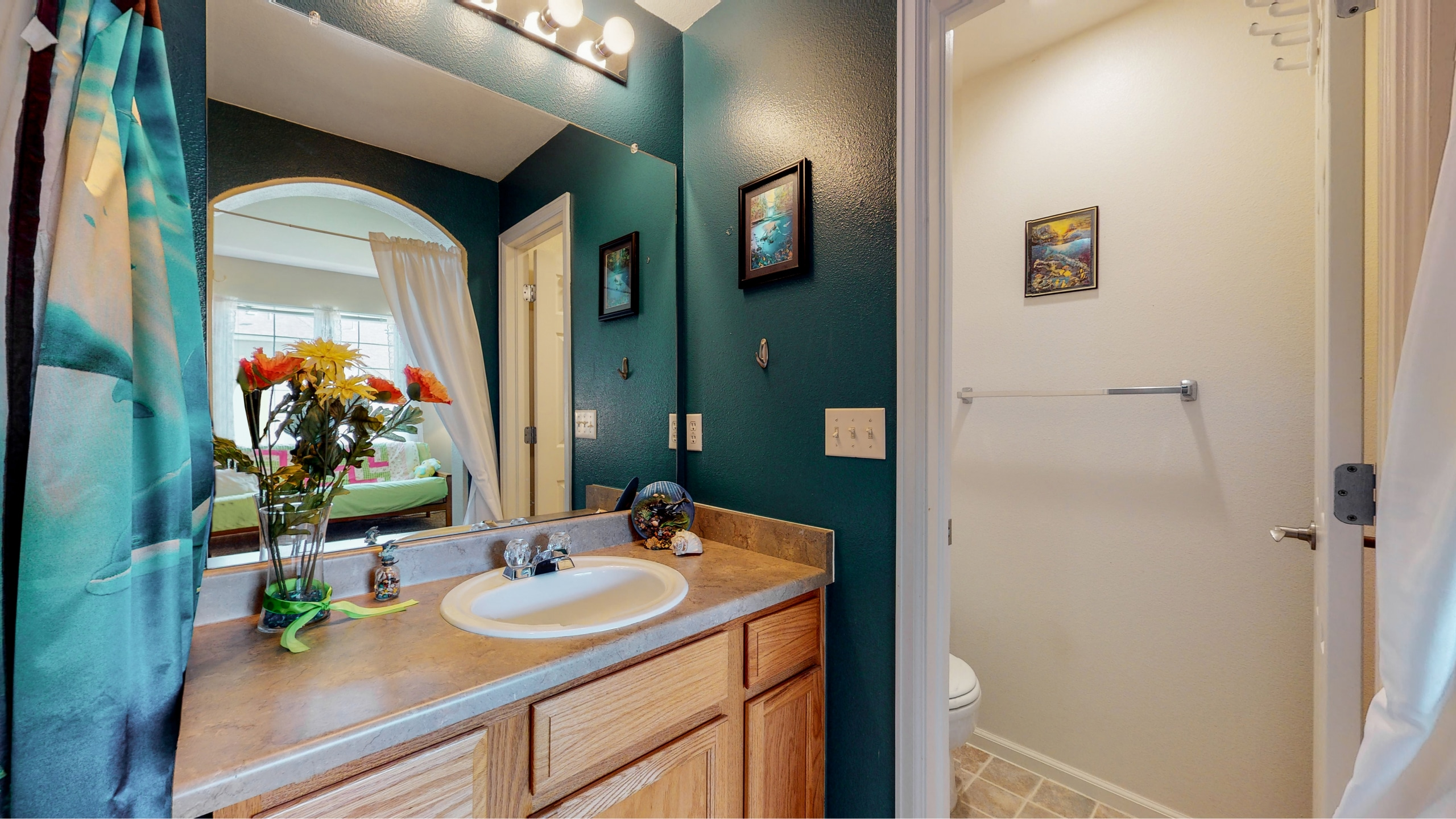 Extra Bathroom with separate water closet for toilet
