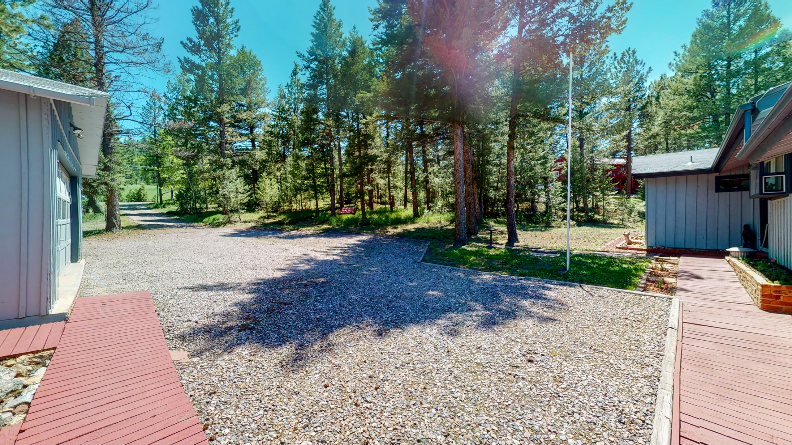 Graveled driveway for year-round access