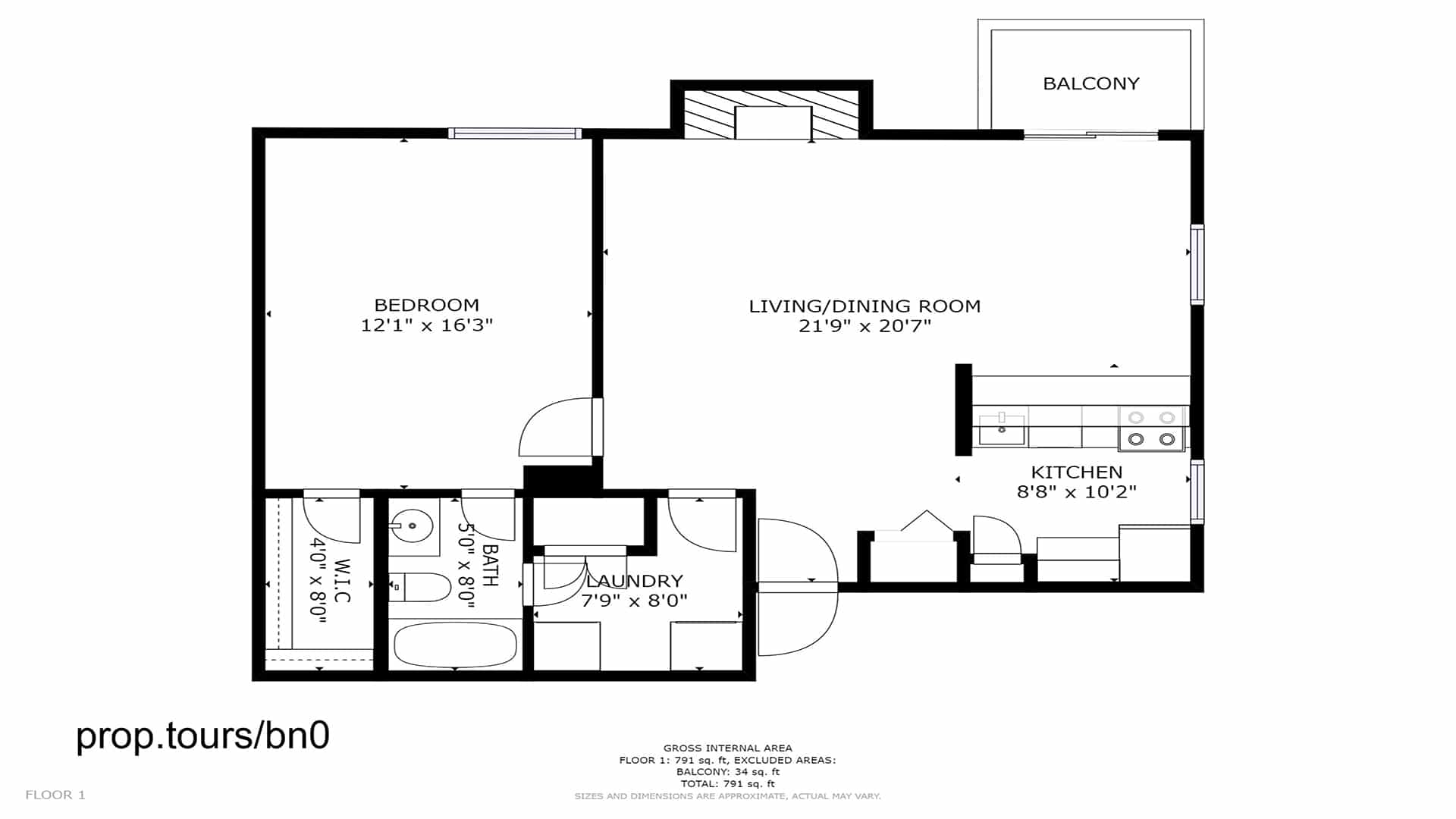 3D Floor Plan Aurora Condo for Sale in Spinnaker Run II