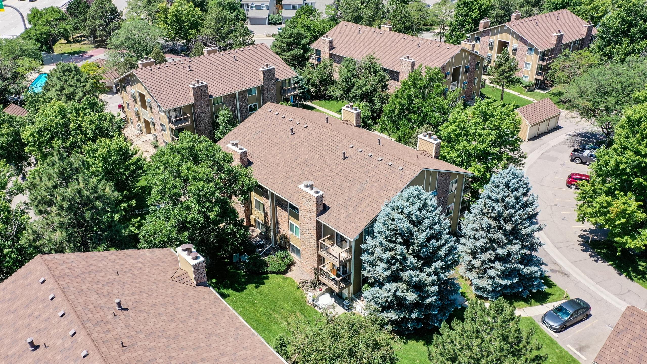 Drone View of Condo Building in Aurora, CO