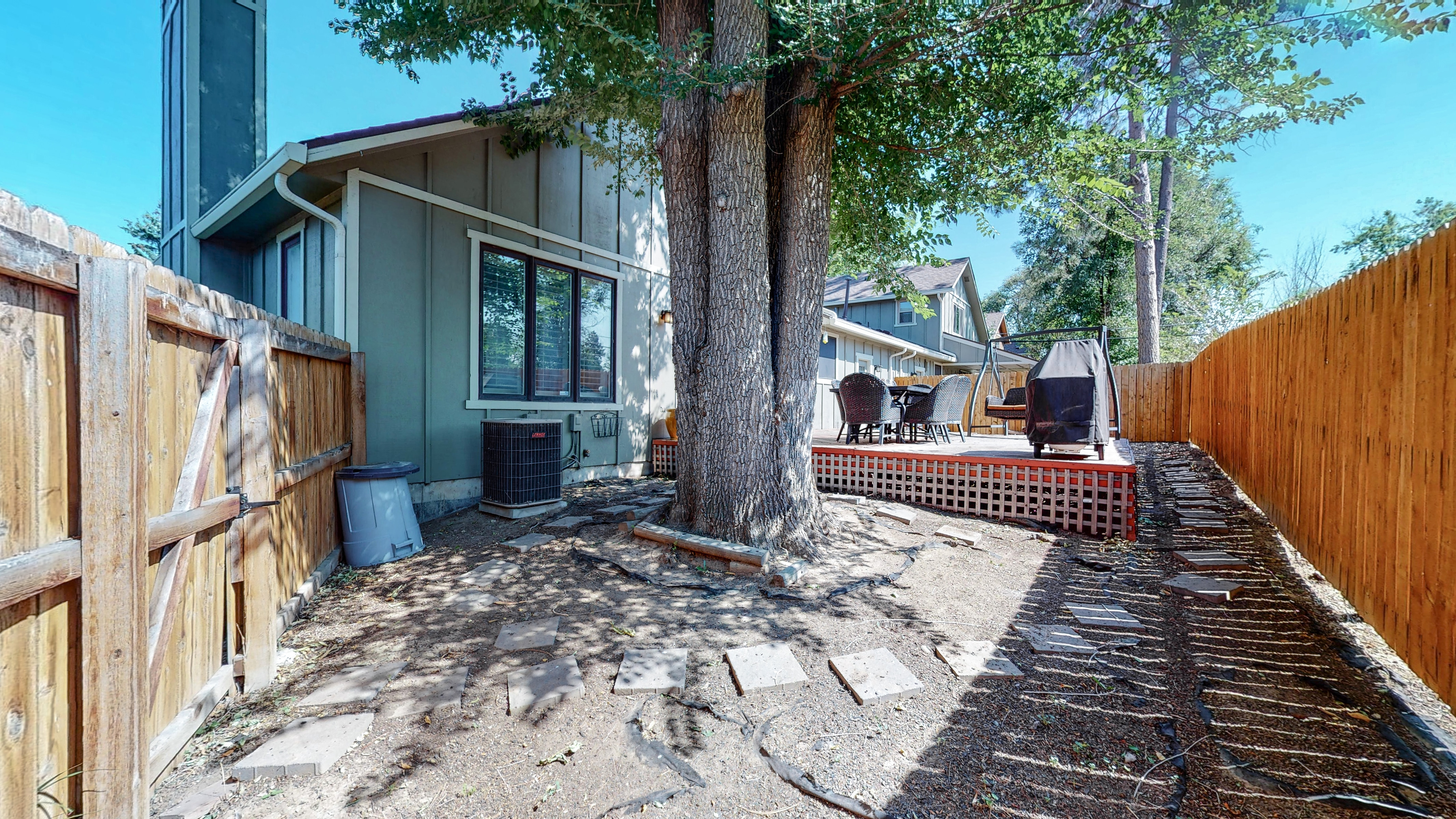 Home for sale in Arvada with private back yard