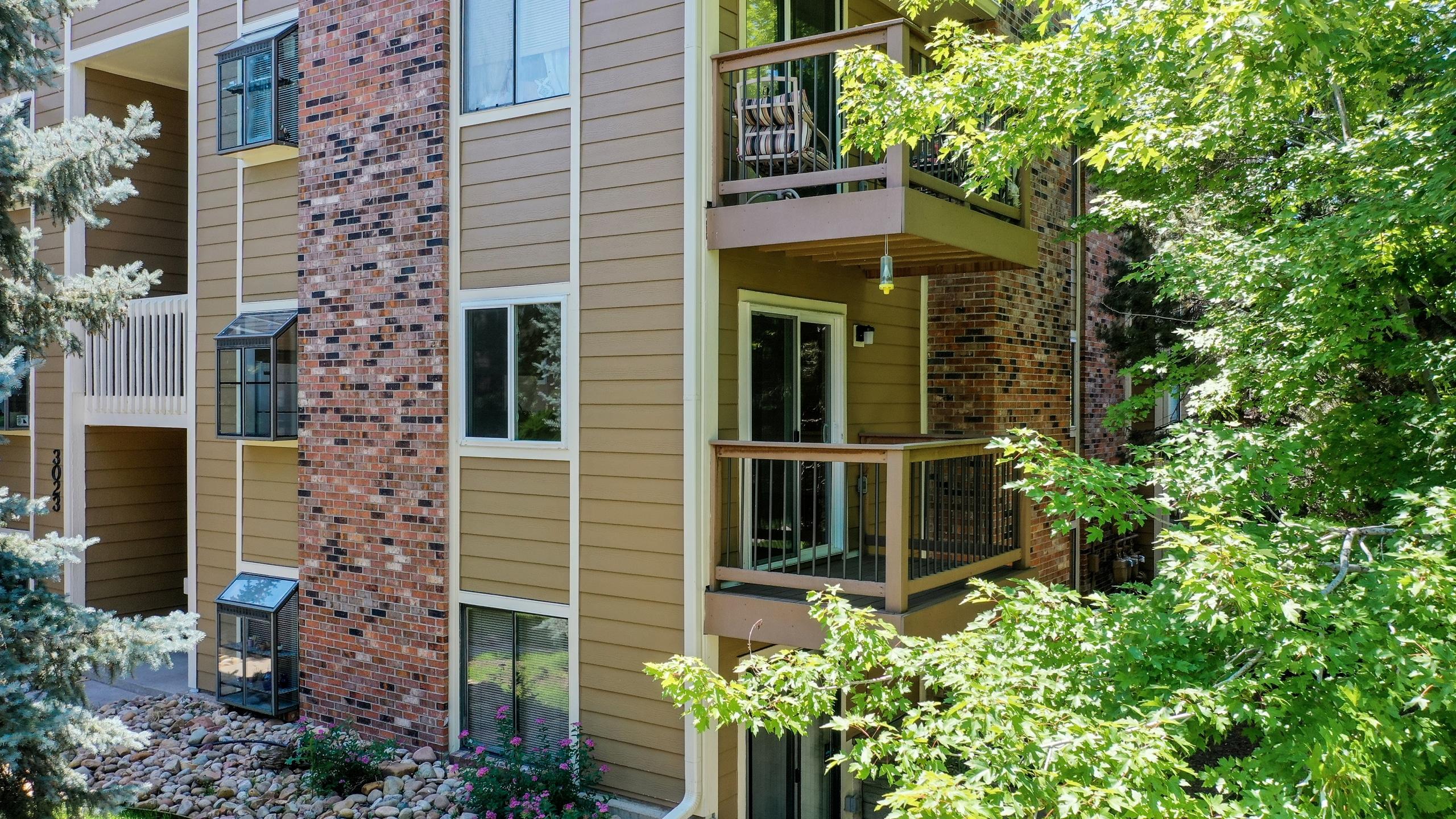 Outside view of Private Balcony Aurora Condo For Sale