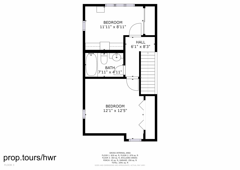 Upper Floor Plan Home for Sale in Arvada