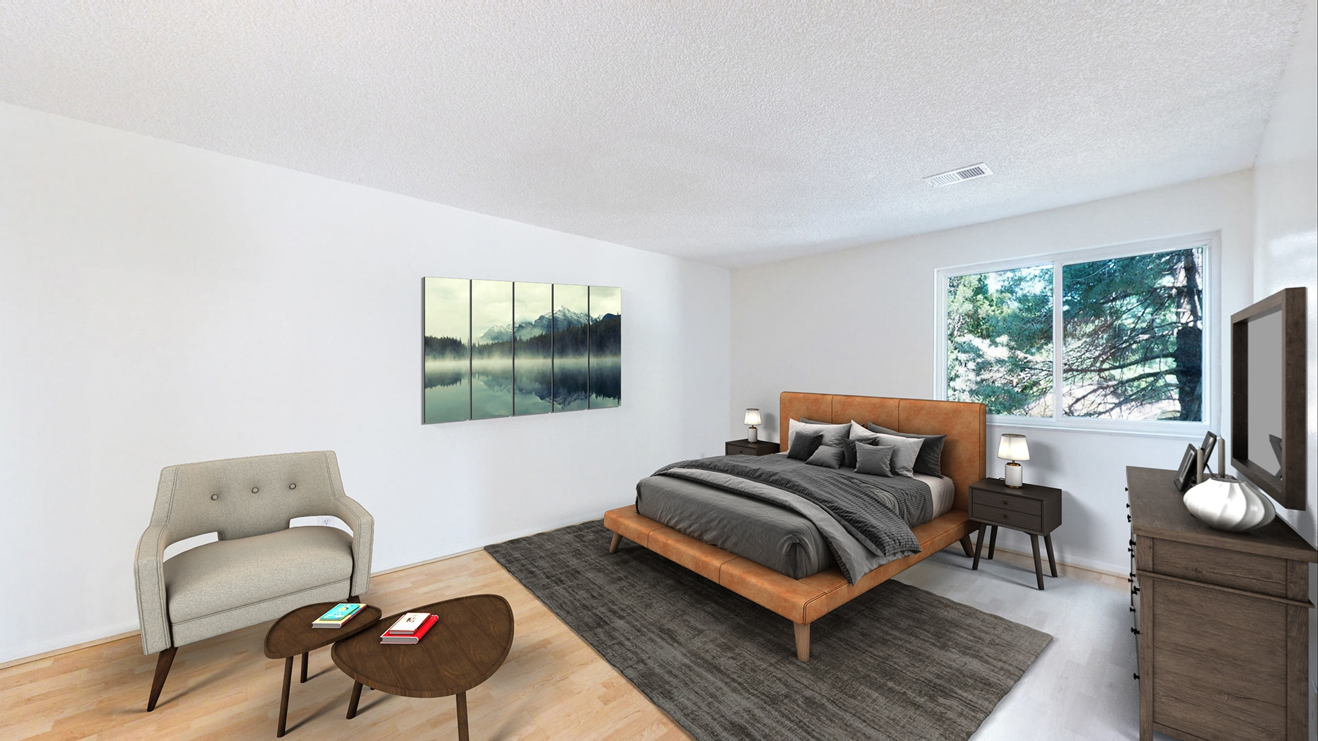 Huge Master Bedroom with white walls in Aurora, CO